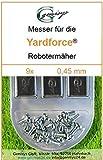 9 Ersatz-Messer Qualitäts-Klingen 0,45mm Yardforce SC 600 Eco SC600-Eco SA 900 SA900 SA 600 H SA600H SA 600 H SA600H