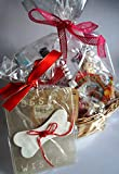 Paradise Pets GIFT WRAPPED DOG BIRTHDAY CELEBRATION BASKET FILLED WITH SPECIALTY DOG CHOC TREATS POPCORN DOG WINE EDIBLE RAWHIDE GREETINGS CARD AND A CHEWY DOG BIRTHDAY CAKE