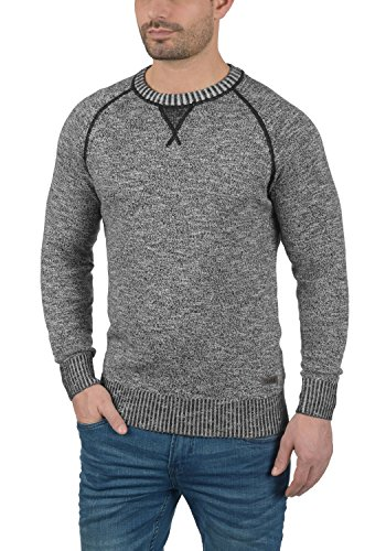 SOLID Thian - Pull en maille fine - Homme Black (9000)