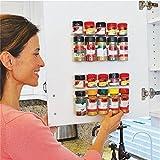 Ducomi® - Especiero ahorra espacio, con pinzas adhesivas para puertas, paredes o estanterías....