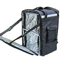 "pk-86z: 12""Big Pizza bolsa de entrega, entrega de comida mochila, carga lateral, cierre de cremallera de 2Vías, 16"" L x 13""W x 18"" H"