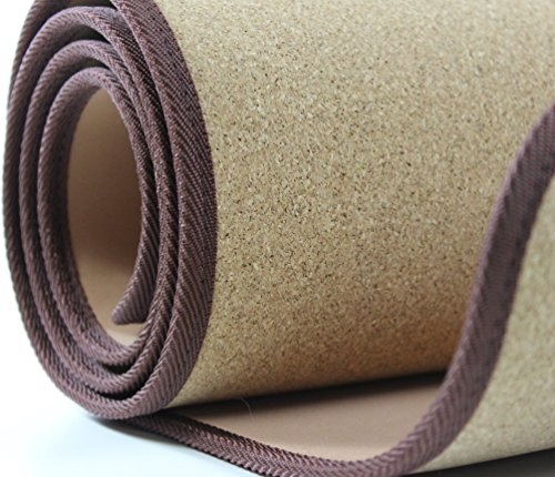 Hochwertige FITNESSMATTE Kork | Idealer Stand Rutschfest Fitness | 5 mm Yogamatte ~ds3