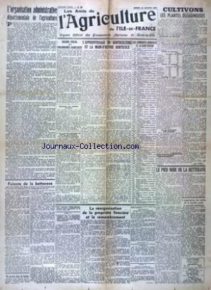 AMIS DE L'AGRICULTURE DE L'ILE DE FRANCE (LES) [No 36] du 21/02/1942