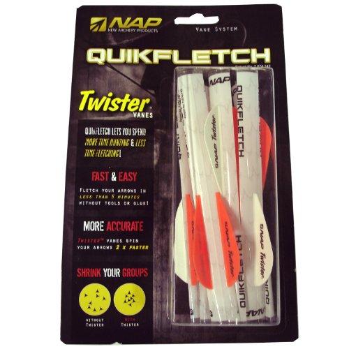 Nouveaux produits Tir à l'arc 6-Pack de 2 pouces Quickfletch Vanes Twister (Blanc / Orange)