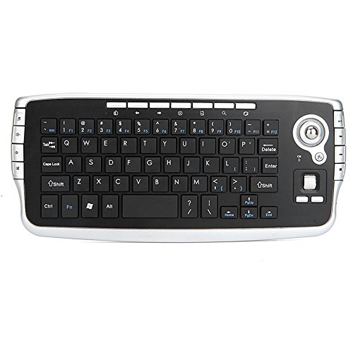Docooler E30 2,4 GHz Wireless Keyboard mit Trackball Maus Scrollrad Fernbedienung für Android TV BOX Smart TV PC Notebook (Keyboard Wireless-mini Trackball)