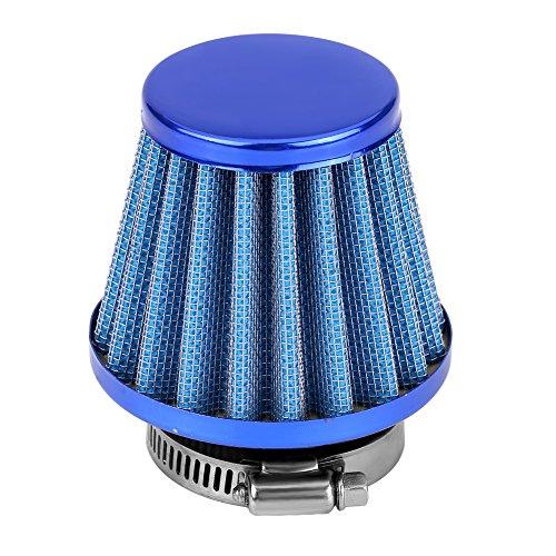 Keenso 38mm Universal Motorrad Luftfilter Set Vergaser(Blau)