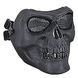 Linkspe CS Krieg Spiel Maske schwarz Coxeer M02 Deluxe Full Face Skull Maske Outdoor Jagd