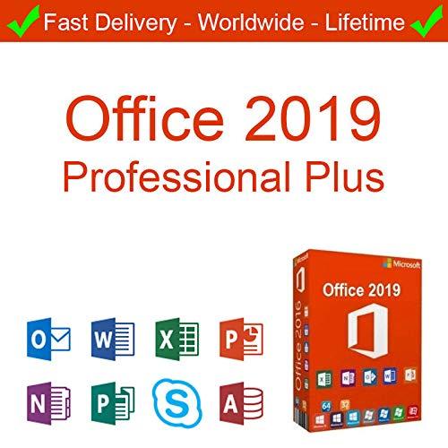 MICROSOFT OFFICE 2019 PROFESSIONAL PLUS - NO OFFICE 2016 | Licenza A VITA| INSTALLAZIONE SEMPLICE| Spedizione elettronica