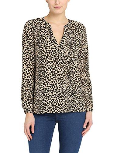Berydale Damen Loose Fit Bluse BD314, Gr. 34 (Herstellergröße: XS), Mehrfarbig (Leopard Leopard)