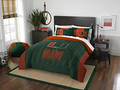 The Northwest Company NCAA Modern Take Full/Queen Schmusetuch und 2 Sham Set, Unisex-Erwachsene, grün, Full/Queen Size -