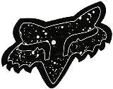 Fox Sticker Splatter Schwarz - 10 cm, Black, 10 cm