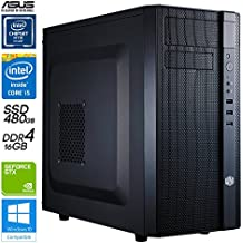 SNOGARD Pro Gamer PC | High Power Gaming Komplett System | PC-Gaming Desktop Computer | Intel Core i5-7500,8GB ASUS nVidia® GeForce GTX 1070 Overclocked, 16GB DDR4 RAM, 480GB SSD + CD/DVD-Rewriter • Spiele-PC