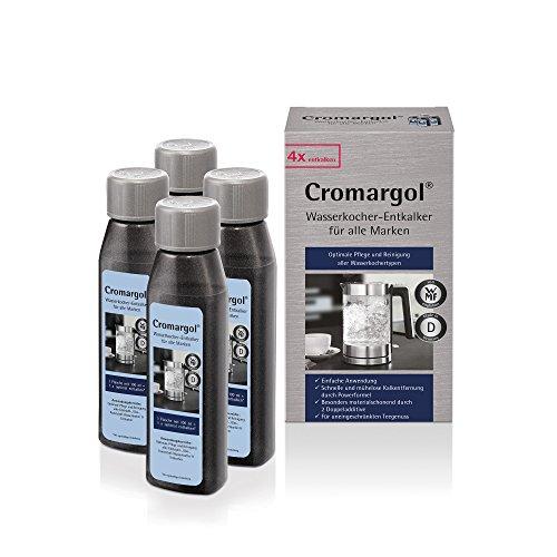 Cromargol Wasserkocher-Entkalker 4er Pack, für alle Wasserkochertypen (Edelstahl, Glas, Kunststoff) und Teekocher, 4 x 100 ml