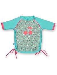 Ensemble T-Shirt Maillot et Culotte Anti-UV - Bébé et Enfant - Jardin Secret - Manches Courtes - Elly La Fripouille