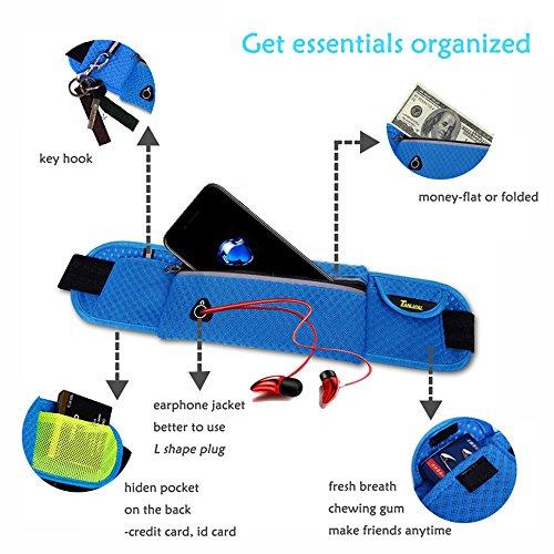 Running Gürtel, ZCL Taille Pack, leicht Flexible Reflektierende Mehrzweck Hip Bag, Radfahren Sport Training Joggen Laufen Handy Tasche blue-W