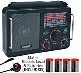 Steepletone MBR1051-16 (Mk 3 Model) High Sensitivity World Multi Band Radio Receiver - Airband - Shortwave - FM - MW & LW (AM) - 7 Band - ELECTRIC & BATTERY (Batteries INCLUDED) - Black