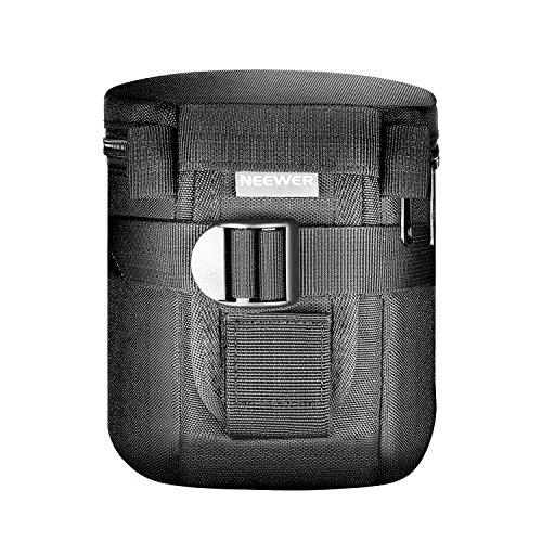 Neewer NW-L2020 Tasca Custodia Borsa per Obiettivo Cilindrica Nero Imobottita Impermeabile per Obiettivo 18-55mm, come Canon 50-1.4 50-1.8 85-1.8 18-55 35-2, Nikon 50-1.8 16-85 18-55 35-1.8G 60-2.8 24-85 40-1.8