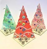3 X Murano Handmade Albero di Natale diversi colori in Vetro Made in Italy Regalo regalino pensierino economico
