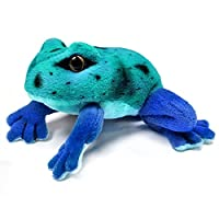 13cm Blue Frog Soft Cuddly Toy - Suitable for all ages (0+)