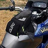 JFG RACING Moto Serbatoio Magnetico-Impermeabile Oxford Moto Bagagli Borse con Strong Magnetica, più Grande Finestra-Universale per Honda Yamaha Suzuki Kawasaki Harley BMW Ducati