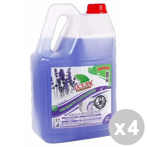 Glooke Selected Ocean Professional Set 4Ocean Professional Waschmittel Waschmaschine Flüssigkeit 5Kg. Lavendel