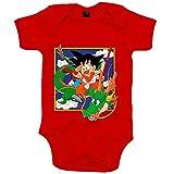 Body bebé Dragon Ball Goku con Shenlong Manga - Rojo, 12-18 meses
