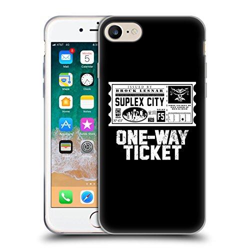 Head Case Designs Offizielle WWE Brock Lesnar One Way Ticket 2018/19 Superstars Soft Gel Huelle kompatibel mit iPhone 7 / iPhone 8 (Wwe Tickets)
