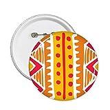 DIYthinker Orange Line Mexiko Totems Antike Kultur Zeichnung Runde Stifte Abzeichen-Knopf Kleidung Dekoration Geschenk 5Pcs XL Mehrfarbig