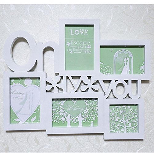 Kunststoff Siamesischer Fotorahmen 6-Zoll-Kombination Nur Sie Buchstaben Kreativ Foto Wandbehänge Dekorative Wand - 6-zoll-craft Buchstaben