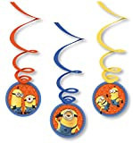 6 Deko-Wirbel * MINIONS * für Kindergeburtstag oder Motto-Party | Kinder Geburtstag Kinder Party Decken-Deko Swirl Dekoration Hänge Ich einfach unverbesserlich Despicable Me Universal Illumination