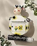 Briefkasten Kuh mit Zeitungsrolle, Dekoration Postkasten Dekobriefkasten