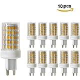 YWXLight 10PCS G9 10W 3000K 86×2835 SMD 950 LM LED Regulable Lámparas lámpara de cerámica,LED maíz luz bombilla,AC 220-240V, ángulo de visión de 360 °, bulbos LED,Luz cálida