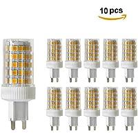 10PCS dimmerabili G9 10W lampade, SMD 2835 86X, 950 LM, caldo / freddo / bianco naturale, ceramica lampada LED bianco bianco, AC 220-240V, 360 ° angolo di visuale, lampadine LED, lampadine LED LED , Luce naturale