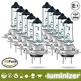 LUMINIZER® autolampe H7 10x H7 12V 55W HALOGEN LAMPEN scheinwerfer Abblendlicht E1 px26d