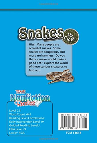 Snakes Up Close (Early Fluent) (Time for Kids Nonfiction Readers)