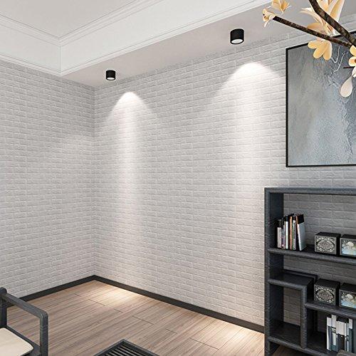 Yuhuistart new pe espanso 3d carta da parati fai da te adesivi murali decorazione della parete in rilievo in mattoni di pietra