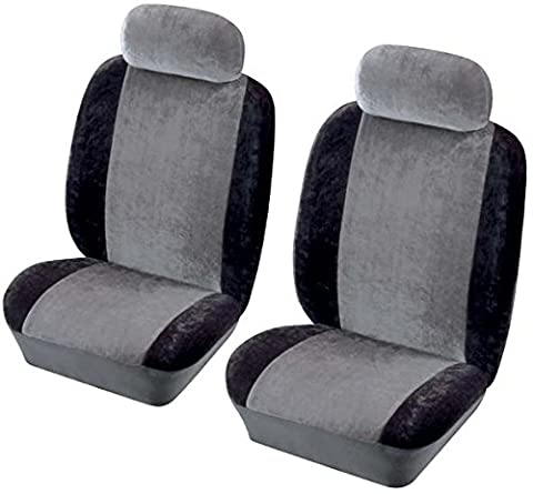 XtremeAuto® HERITAGE Car FRONT seat covers set. BLACK. compatible with