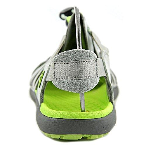 Keen Cypress Cuir Sandale de Sport Neutral Gray-Green Glow