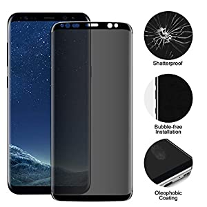 LIRAMARK Anti Spy 9H Privacy 5D Full Cover Edge to Edge Tempered Glass Screen Protector for Samsung Galaxy S9 Plus
