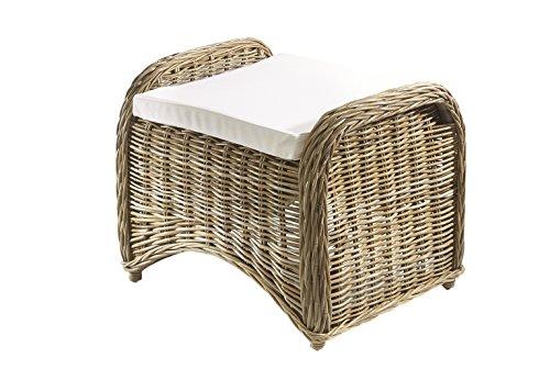 Sitzmöbel Lounge-stuhl (Kobolo Rattanhocker Fußhocker Sitzmöbel aus Rattan)