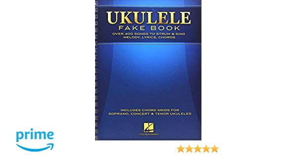 Ukulele Fake Book Full Size Edition Amazon Hal Leonard Corp