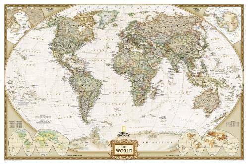 World Executive: Enlarged and Tubed (National Geographic Reference Map)
