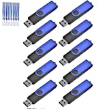 TEWENE USB Stick,10 Stück USB 2.0 Speicherstick (16GB, Blau)