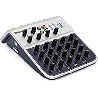 SubZero MIX02AU Mini mixer a 6 canali con USB by Gear4music - 4 Canali Mini Mixer
