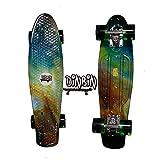 DINBIN Cruiser-Board aus Kunststoff, 55,9 cm (22 Zoll) Skateboards für Anfänger oder Profis mit High Rebound PU-Rädern, Universe