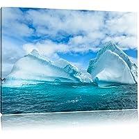 Neve e ghiaccio delle isole antartiche, formato: 120x80 su tela, XXL enormi immagini completamente Pagina con la barella, stampa d'arte sul murale con telaio, più economico di pittura o un dipinto a olio, non un manifesto o un banner,