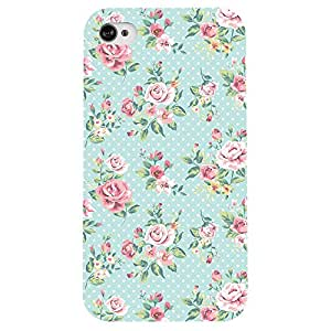 I phone 4/4s Floral Romance Printed back cover