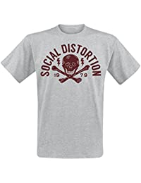 Social Distortion Crossbones T-shirt gris chiné