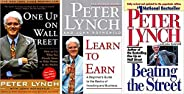 One Up On Wall Street + Learn to Earn + Beating the Street (Set of 3 books) by Peter Lynch