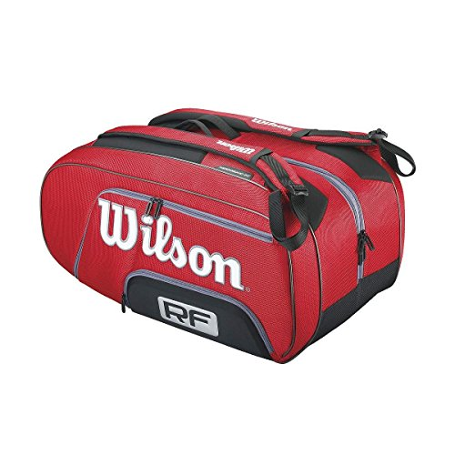 Wilson WRZ830512 Zaino Federer, Rosso